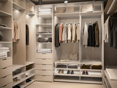 Custom made dressing room in London