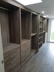 Bespoke modern walk in wardrobe