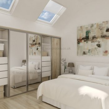 Bespoke slopping ceiling modern wardrobe