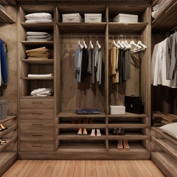 Fitted walk in wardrobe
