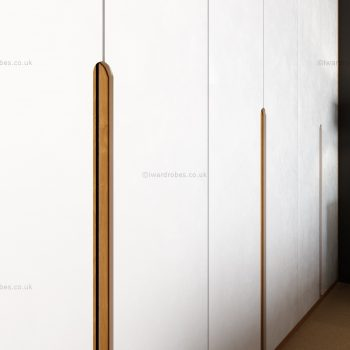 Modern white hinged wardrobe