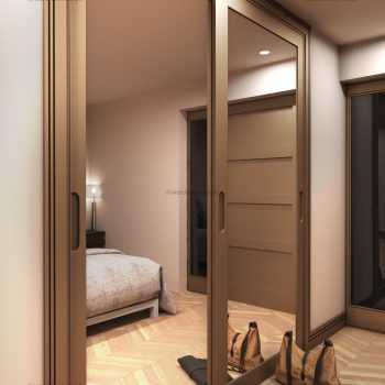 Mirror sliding door wardrobe