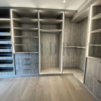 Bespoke modern dressing room in London