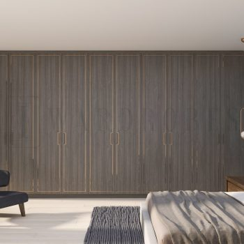bespoke fitted real wood wardrobe London