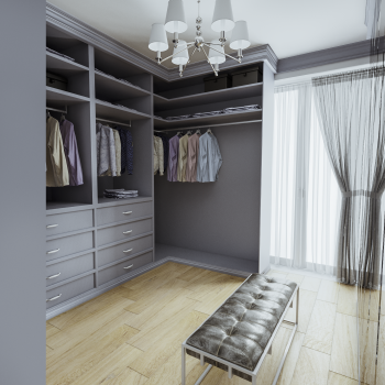 fitted spray painted wardrobe