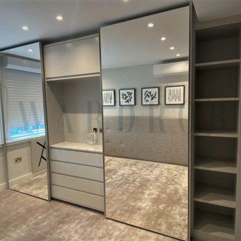 made to measure built in mirror sliding door wardrobe in London