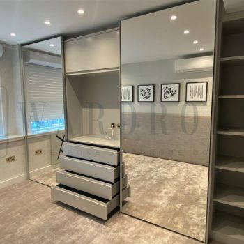 Made to measure fitted mirror sliding door wardrobe in London