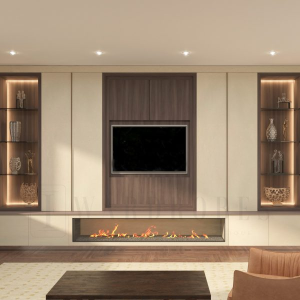 bespoke fitted livin room storage London